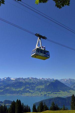 Aerial cable car Weggis - Rigi Kaltbad