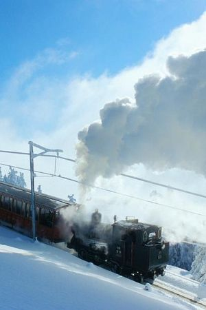 Winter steam trains