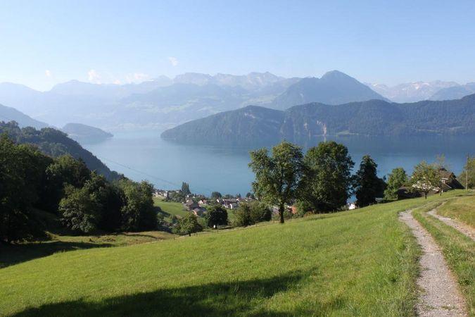 Rigi Chestnut Trail: sector Weggis - Vitznau