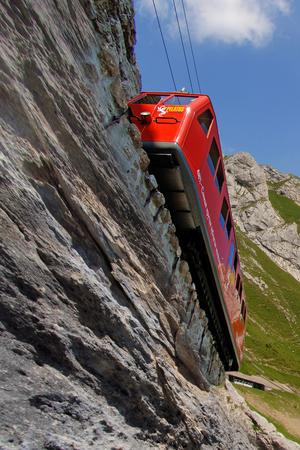 Steepest cogwheel railway