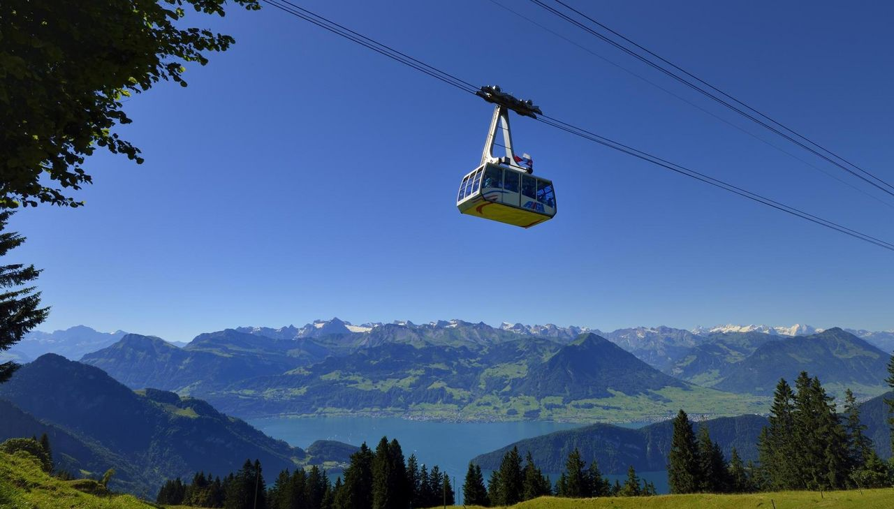 Cable car from Weggis to Rigi Kaltbad