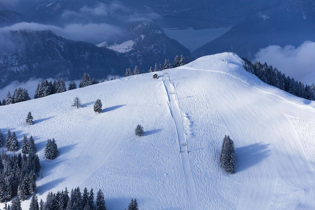 Skiing on Mount Rigi