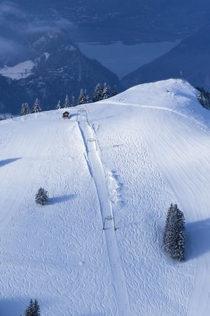 Skiing on Mount Rigi